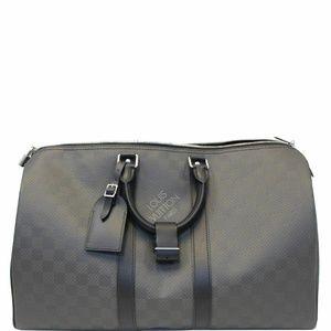 LOUIS VUITTON Keepall 45 Carbon Fiber Carbone Bag